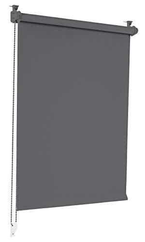 Sonello Verdunkelungsrollo Klemmfix ohne Bohren 80cm x 130cm Grau Verdunklungsrollo...
