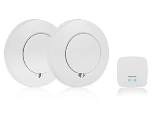 Smartwares SH8-99103 Smart Home Rauchmelder Set/ Intelligenter Alarm per App auf...