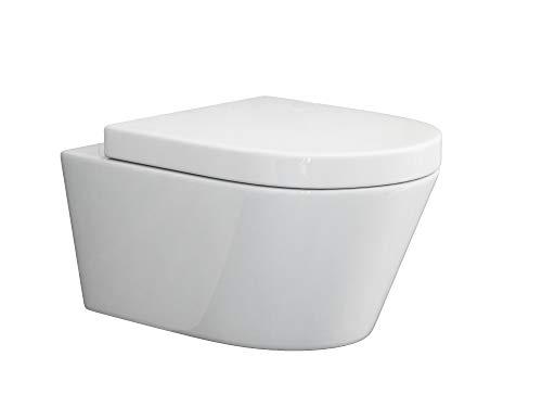 SSWW | Design Hänge WC | Spülrandlose Toilette | Wand-WC | WC-Set | Inkl. abnehmbaren...