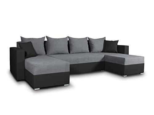 Wohnlandschaft mit Schlaffunktion Beno - U-Form Couch, Ecksofa mit Bettkasten,...
