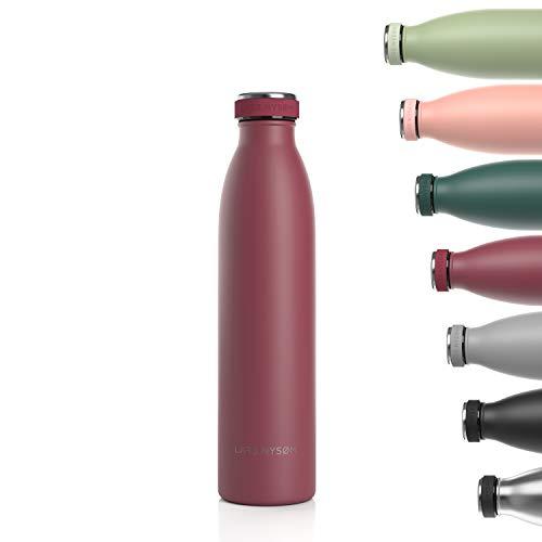 LARS NYSØM Trinkflasche Edelstahl 750ml | BPA-freie Isolierflasche 0.75 Liter |...