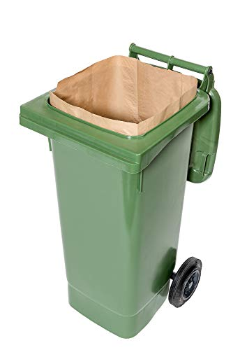 240 Lt. kompostierbare Papiersäcke für Biotonnen, 1-lagig, reißfest & nassfest (25...