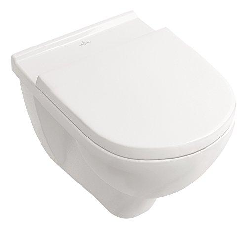 Villeroy & Boch Wand-WC O.Novo mit Sitz, Directflush und ohne Spülrand, 1 Stück,...