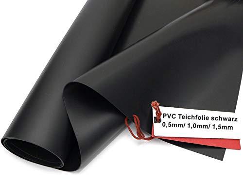 Sika Premium PVC Teichfolie schwarz, Stärken: 0,5 mm / 1,0 mm / 1,5 mm (Made in Germany,...