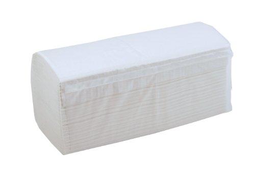 4.000 Blatt Papierhandtücher Falthandtuch weiß 2-lagig 25 x 23 cm ZZ-Falz