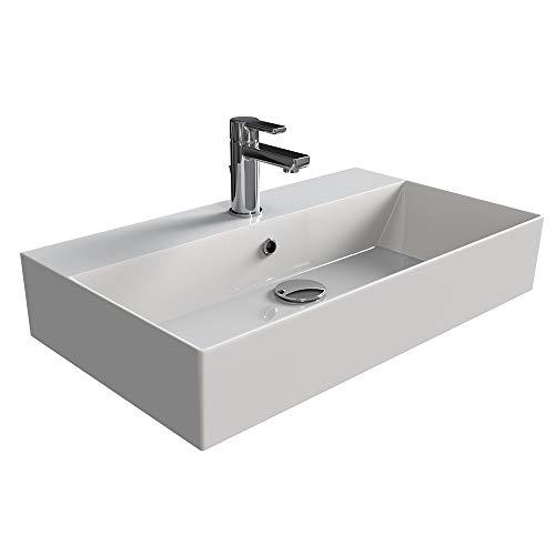 Aqua Bagno | Design Waschbecken Hängewaschbecken Aufsatzwaschbecken Waschtisch aus bester...