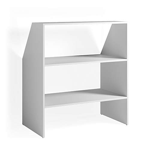 Vicco Dachschrägenregal Bücherregal Wandregal Regal Standregal Dachschräge (Weiß)