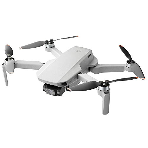 DJI Mini 2 - Ultraleichter und faltbarer Drohnen-Quadkopter, 3-Achsen-Gimbal mit...