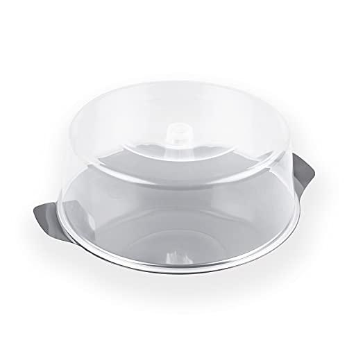 chg 14021-07 Kuchen- und Frischhalteplatte aus Edelstahl-rostfrei mit bruchfester Haube,...