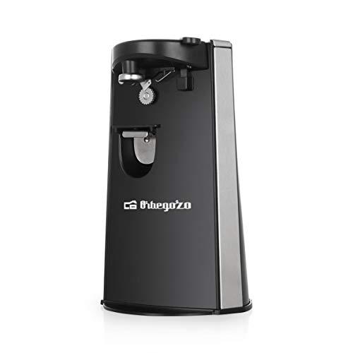 Orbegozo Elektrischer Dosenöffner CU 6500 mit Flaschenöffner und Messerschärfer,...
