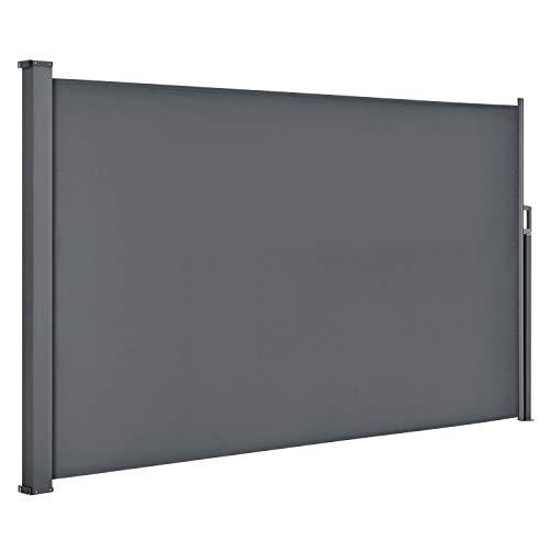 ArtLife Seitenmarkise Dubai 180 x 300 cm ausziehbar Blickdicht, Sichtschutz & Windschutz...