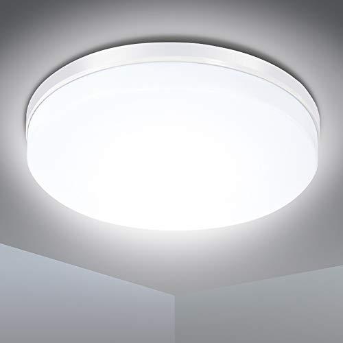 LED Deckenleuchte, SOLMORE 24W LED Deckenlampe IP54 Wasserfest Badlampe, 5000K Kaltweiß,...