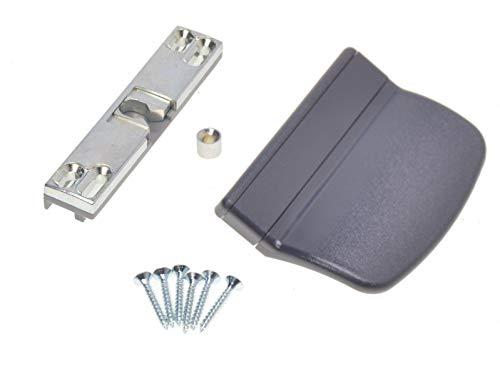 Balkontürschnapper Schnäpper für Balkontür oder Terrassentür inkl. Griff Anthrazit