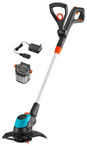 GARDENA Akku-Trimmer EasyCut Li-18/23 Ready-To-Use Set: Rasentrimmer mit 230 mm...