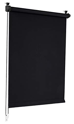 Sonello Verdunkelungsrollo Klemmfix ohne Bohren 70cm x 210cm Schwarz Verdunklungsrollo...