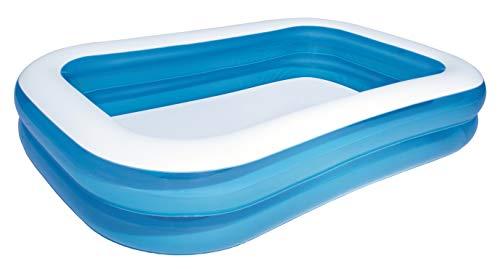 Bestway Family Pool, Pool rechteckig für Kinder, leicht aufbaubar, blau, 262 x 175 x 51...