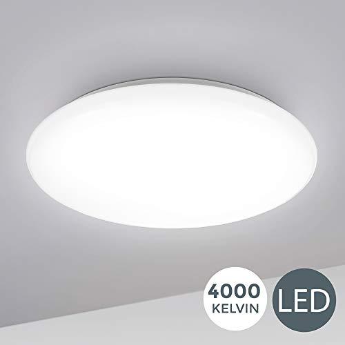 B.K.Licht I 12W LED Deckenlampe I 4.000K Neutralweiß I 1.200 Lumen I Ø28cm I Schutzart...