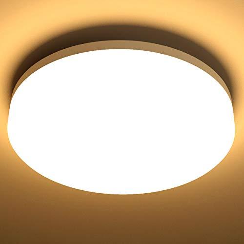 Lighting EVER 15W Deckenlampe, IP54 Wasserfest Badlampe, 3000K LED Deckenleuchte, 1250lm...