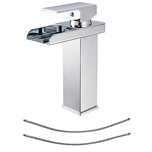 Wasserfall Wasserhahn Bad Chrom Einhandmischer Waschtischarmaturen Waschbecken für...