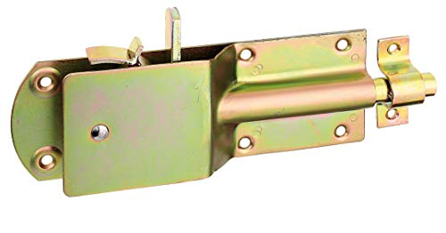 GAH-Alberts 124182 Sicherheits-Stallriegel | mit breitem flachen Griff | galvanisch gelb...