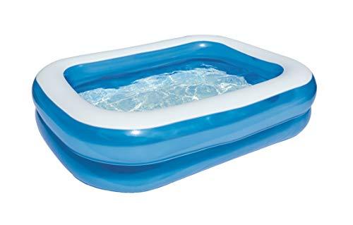 Bestway Family Pool, Pool rechteckig für Kinder, leicht aufbaubar, blau, 201 x 150 x 51...