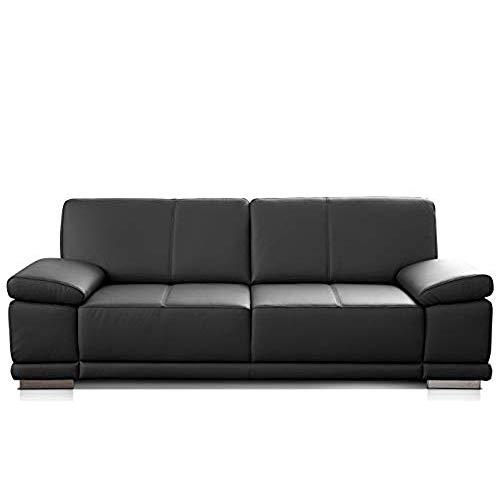 CAVADORE 3-Sitzer Sofa Corianne / Echtledercouch im modernen Design / Mit...