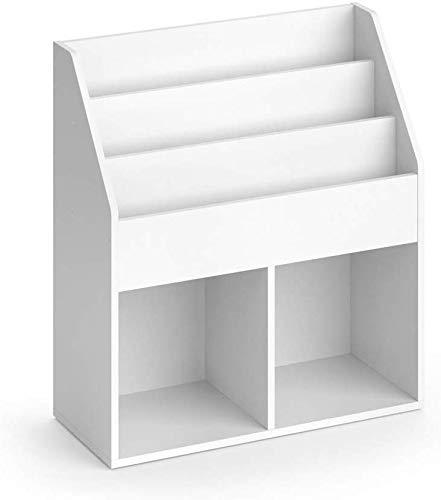 Vicco Kinderregal Luigi Spielzeugablage Bücherregal Aufbewahrungsregal Comic (Weiß)