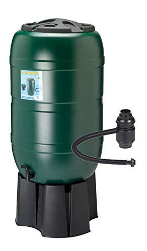 Regensammler Wassertonne für 210 Liter mit Standfuß, Füllautomat (Befüllsystem) und...