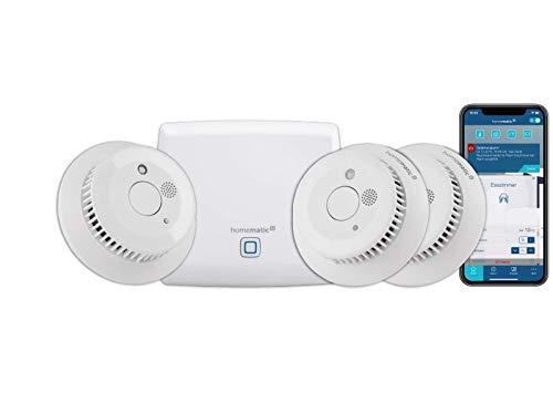 Homematic IP Smart Home Starter Set Rauchwarnmelder - Intelligenter Alarm lokal und per...