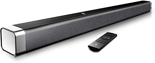 Bomaker Soundbar 2.0 Kanal, 120 dB 37 Zoll Lautsprecher Bluetooth 5.0 mit Eingebaute...