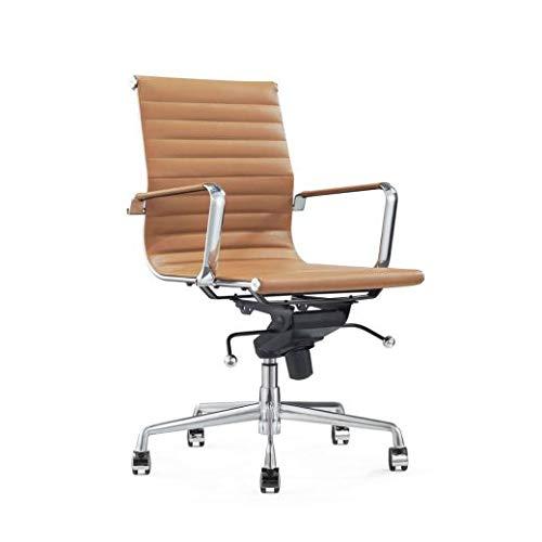 Vivol Design Schreibtisch Stuhl - Valencia Cognac - Bürostuhl Ergonomisch Leder...