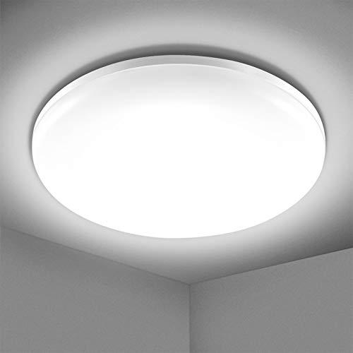 Elfeland 24W Deckenlampe Led Deckenleuchte 5000K 2200lm Badlampe Decke IP54 Wasserfest...