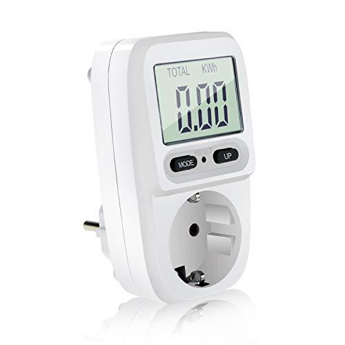 Homga Energiekostenmessgerät Digitaler Energiekosten-Messer Leistungsmessgerät...