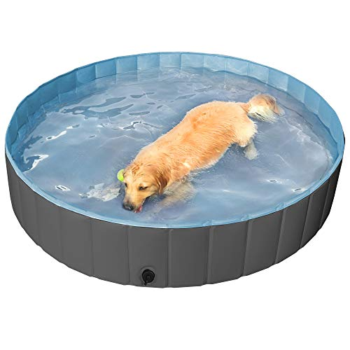 Yaheetech Hundepool für Hunde, Swimmingpool 100/120/140/160 x 30 cm, Hund Planschbecken...