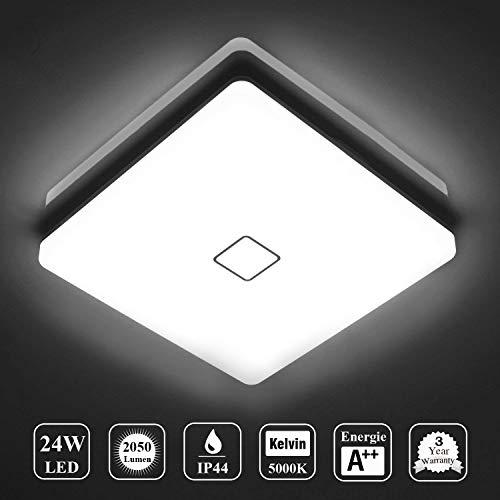 Deckenlampe LED Deckenleuchte Wasserdicht Lampe Decke Moderne Quadratische Dünne 24W...