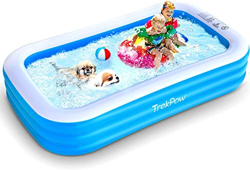 TrekPow Pool Rechteckig, 305 * 183 * 56cm Swimmingpool, Outdoor & Indoor Aufblasbar Pool,...