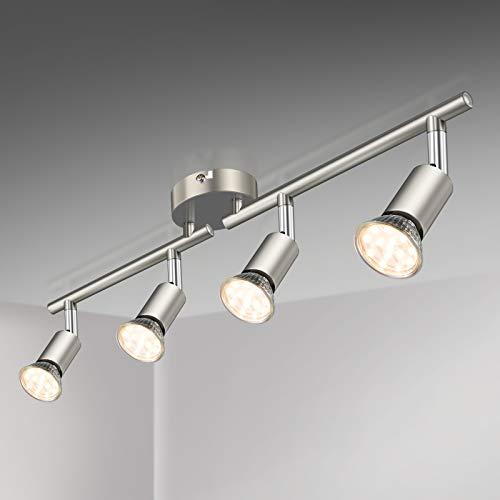 Defurhome LED Deckenleuchte Drehbar, 4 Flammig LED Strahler Deckenlampe Spot,Modern...