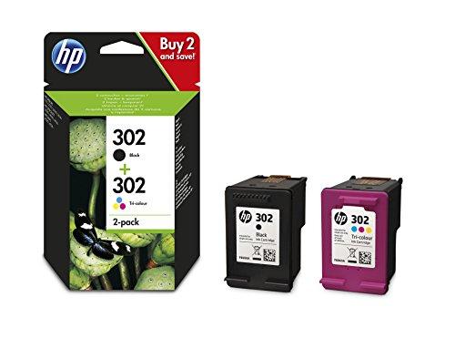 HP 302 Multipack Original Druckerpatronen (für HP Deskjet 1110, 2130, 3630, HP OfficeJet...