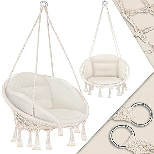 KESSER® Hängesessel mit Kissen - Hängestuhl zum Aufhängen für Erwachsene & Kinder...