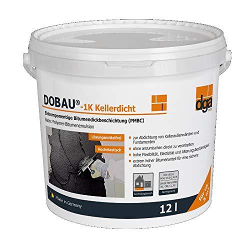 Dickbeschichtung 1K 12 Liter Bitumenanstrich Bitumen Abdichtung Kellerabdichtung