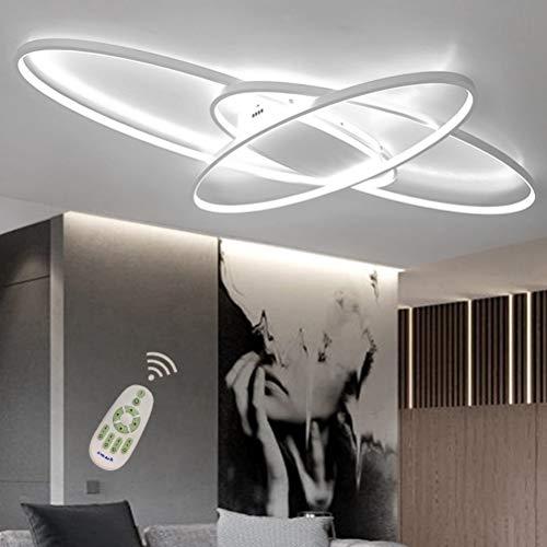 LED Deckenleuchte 58W Dimmbar Wohnzimmerlampe mit Fernbedienung Acryl-Schirm...