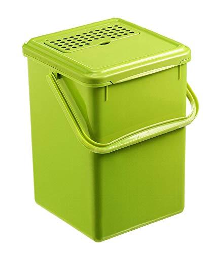 Rotho Bio Komposteimer 9l mit Aktivkohlefilter im Deckel, Kunststoff (PP) BPA-frei, grün,...
