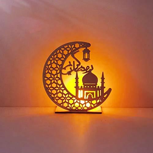 Hölzerner Ramadan Eid Mubarak Mondstern Islam Hängender Hängender Teller Mit...