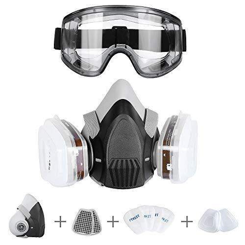 FIXKIT Halb Gesicht Abdeckung wiederverwendbare-Gaz Maske mit austauschbaren Filtern gegen...