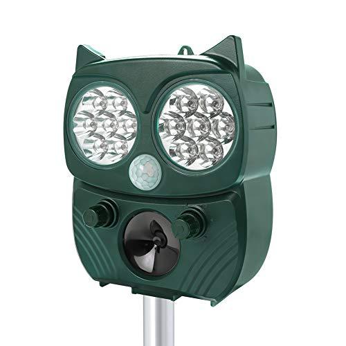 Katzenvertreiber Ultraschall Tiervertreiber Solar Ultraschall Katzenschreck für Garten,...