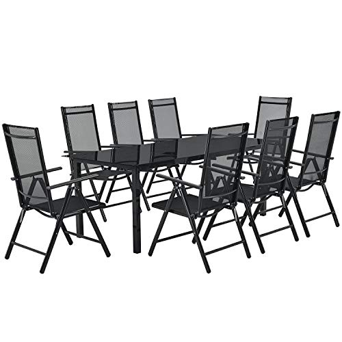 ArtLife Aluminium Gartengarnitur Milano   Gartenmöbel Set mit Tisch & 8 Stühlen  ...