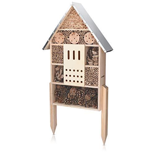 Navaris Insektenhotel aus Holz - Naturbelassenes Insekten Hotel für Verschiedene...
