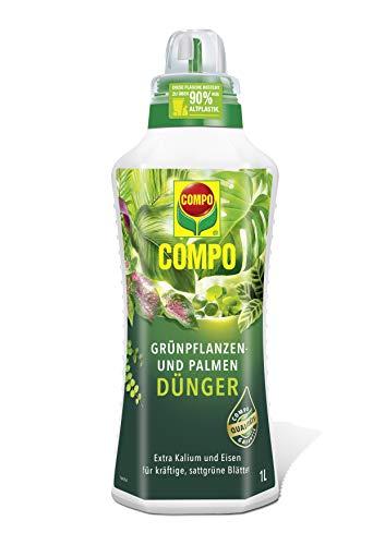Compo Grünpflanzen- und Palmendünger für alle Zimmer-, Balkon- und Terrassenpflanzen,...