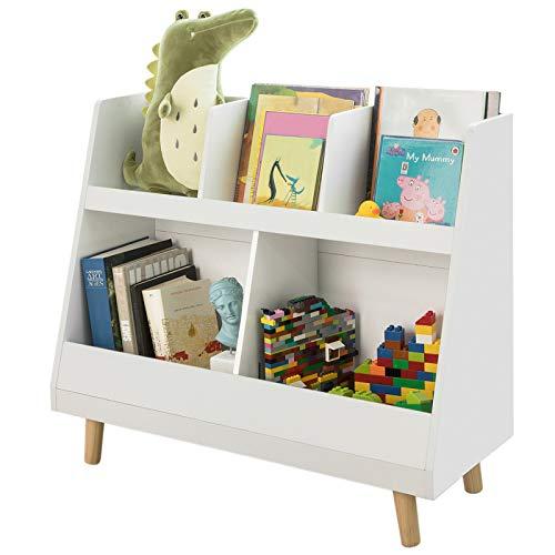 SoBuy KMB19-W Kinderregal mit 5 Fächern Bücherregal Aufbewahrungsregal für Kinder...
