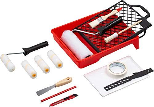 Werkzeyt Renovierungs-Set 17-teilig - Umfangreiche Werkzeuge & Hilfsmittel zum Renovieren...